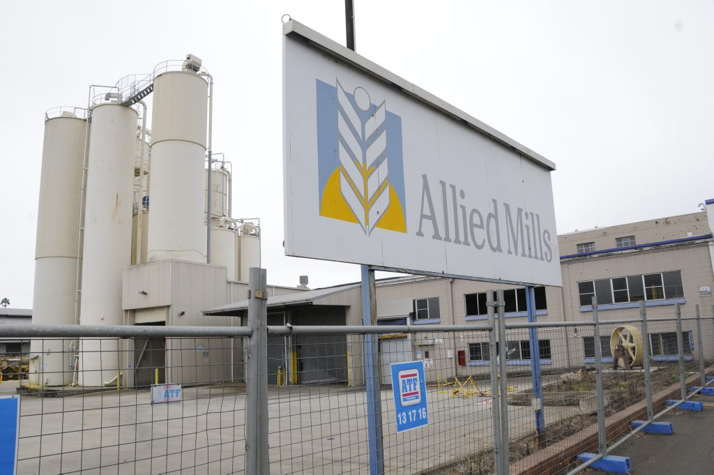 Allied Mills in Ruthven Street has closed permanently. Photo: Bev Lacey / The Chronicle