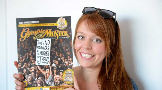 COVER GIRL: Gympie's Fern Schulz was excited about being on the cover of this year's Gympie Music Muster Official Program. Photo Craig Warhurst / The Gympie Times