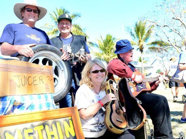 Warren, Mick, Wendy and Jye Kennedy. Rocky Swap 2014. Photo Sharyn O'Neill / The Morning Bulletin