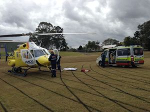 Man airlifted after horse falls on him in Kilcoy