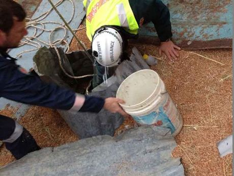 It took more than seven hours to rescue the man from the grain silo.