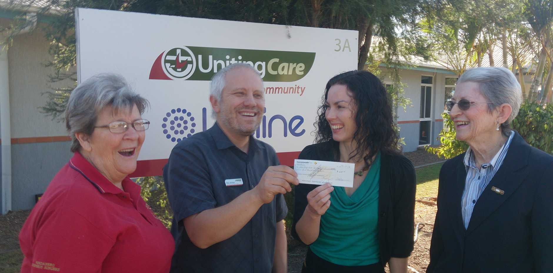 The Bundaberg Orpheus Singers donated $600 to a service which helps families and relationships.