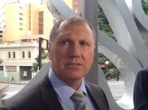 Matt Barclay's father Steve talks outside court