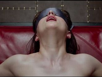 A scene from Fifty Shades of Grey.