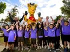 Pottsville Beach Public School kids are excited Healthy Harold will still be a part of Tweed schools thanks to a $6000 donation made by the Council. Photo: Nolan Verheij-Full / Tweed Daily News