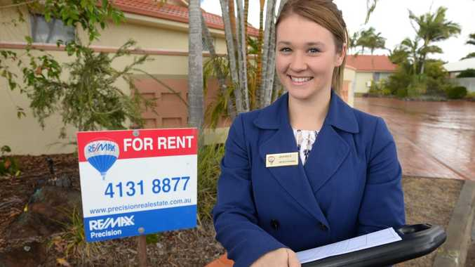 AFFORDABLE REGION: REMAX's Monique Stevens outside a rental property in Norville. According to the latest quarterly data from Australian Property Monitors, Bundaberg's median weekly rent is $245. Photo: Mike Knott / NewsMail