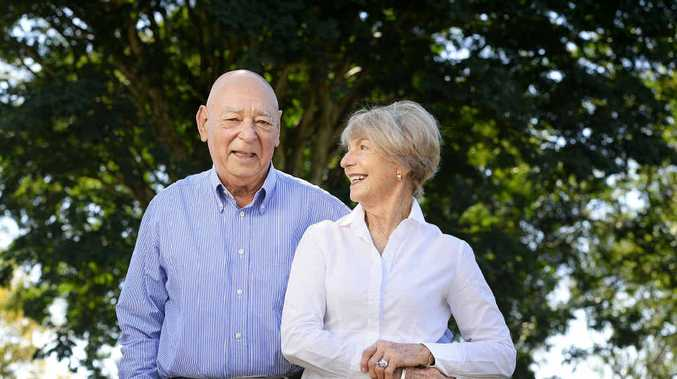 RELAXING: Dr Barry Hoffensetz, pictured with wife Jan, has retired after 45 years as a GP in Ipswich.