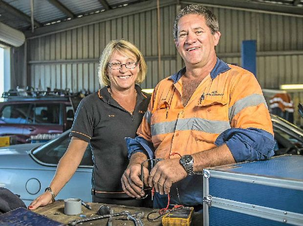 THERE TO HELP: Kym Badyk and Tony McGuire from AK Auto Electrics have been servicing Gladstone for seven years.