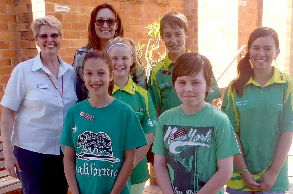 BLESSED: St Saviour's Anglican Church accepted a donation from Gladstone Central State School, delivered to the church's Annie Saunders by principal Leanne Martin and students Isabella,11, Amy-Lee, 12, Joshua 12, Cooper 11, and Kiani, 12.