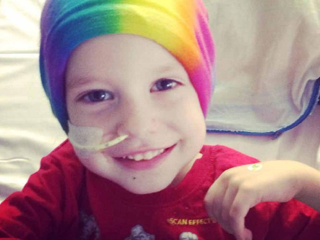 BRAVE BOY: Rockhampton's Zane Brown still manages to smile as he battles neuroblastoma, a rare form of children's cancer.