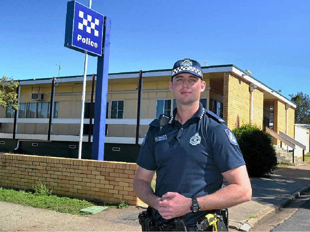 NEW RECRUIT: First-year Constable Nathan McIntosh has been posted to the Gatton police station.