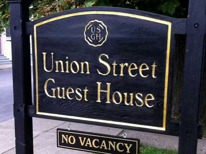 Union Street Guest House welcome sign