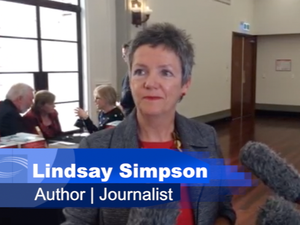 Where is Daniel author Lindsay Simpson at book launch