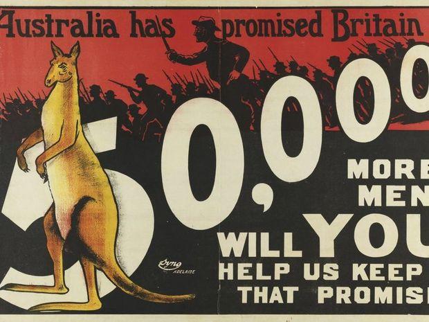 An Australian First World War recruitment poster.
