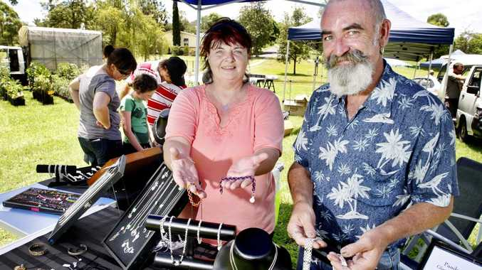 GRAB A BARGAIN: Harrisville residents Diana and Brad Potter have a jewellery stall at the Boonah markets.