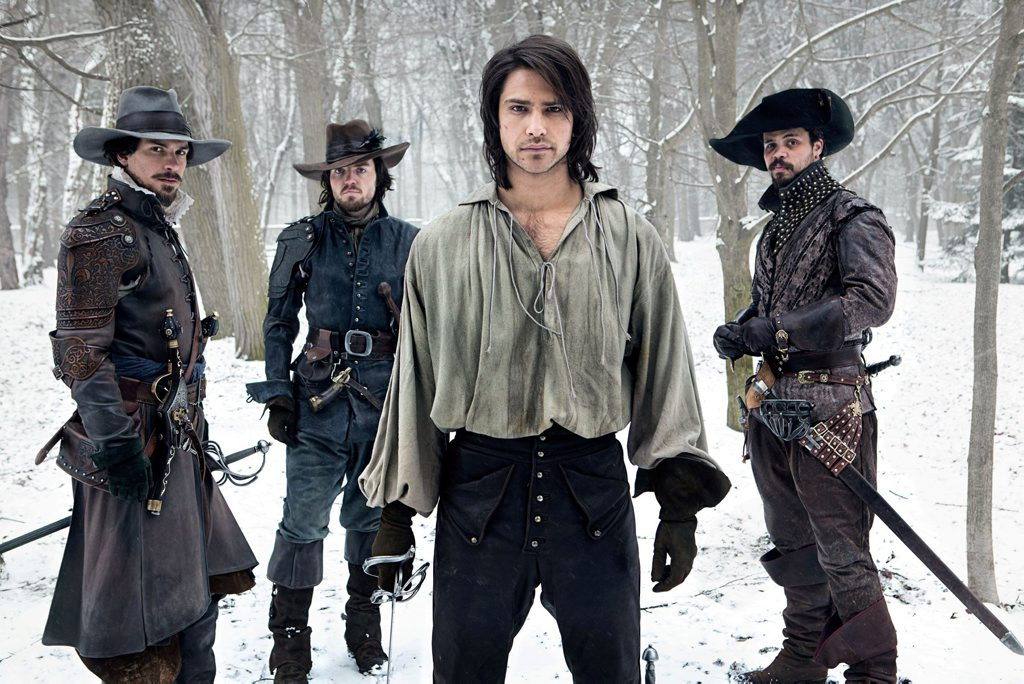 Santiago Cabrera, Tom Burke, Luke Pasqualino and Howard Charles star in the TV series The Musketeers.