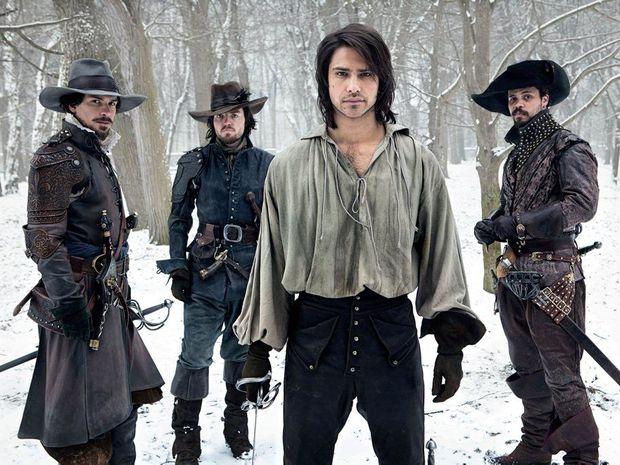 Santiago Cabrera, Tom Burke, Luke Pasqualino and Howard Charles star in the TV series The Musketeers.