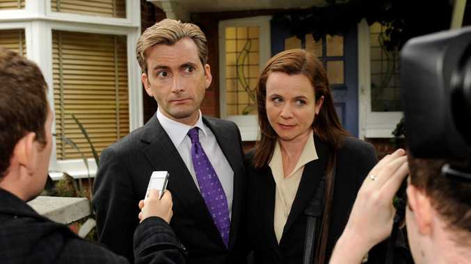 David Tennant and Emily Watson in The Politician's Husband.