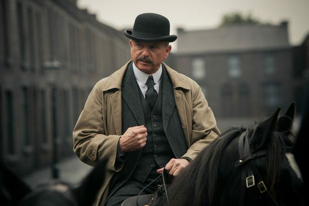 Actor Sam Neill in a scene from the TV series Peaky Blinders.