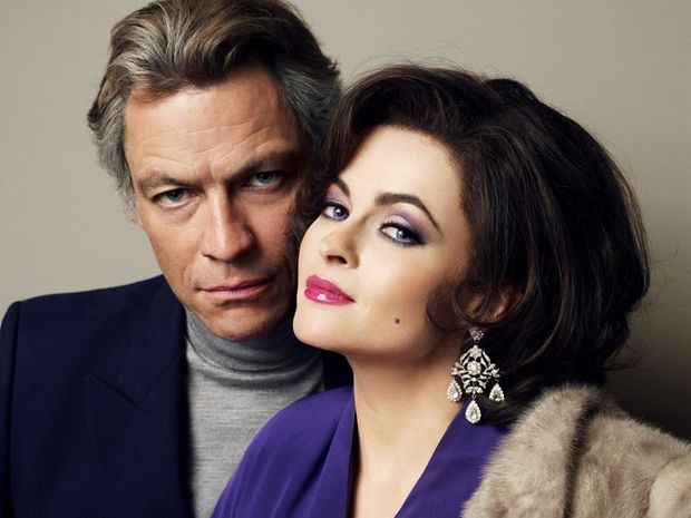 Dominic West and Helena Bonham Carter in the telemovie Burton and Taylor.