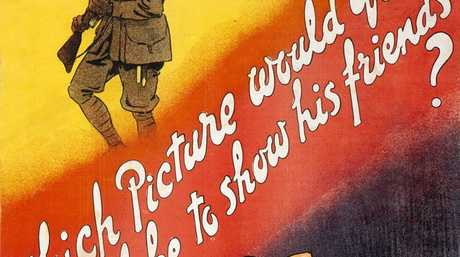 An Australian AIF. First World War recruitment poster, which appeals to the viewer's sense of filial duty as an encouragement to enlist.