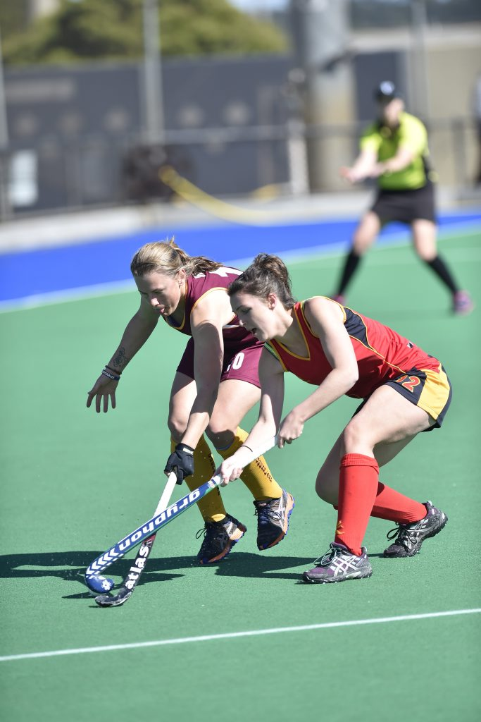 Toowoomba's Amanda Ross in action for Queensland against South Australia.
