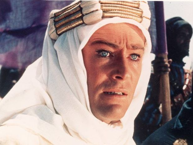 FIRST WORLD WAR: A scene from the film Lawrence of Arabia starring Peter O'Toole and Omar Sharif. Photo: Columbia Pictures