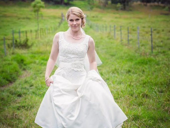 Tegan Gargett (nee Hamilton) from is a finalist in Bride To Be magazine's Bride of the Year competition. Photo Contributed by Ta Da photography.