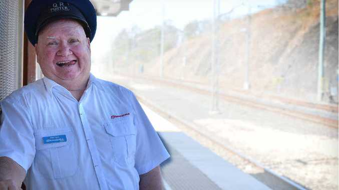 Mervyn Suare has worked on the railway for five decades.