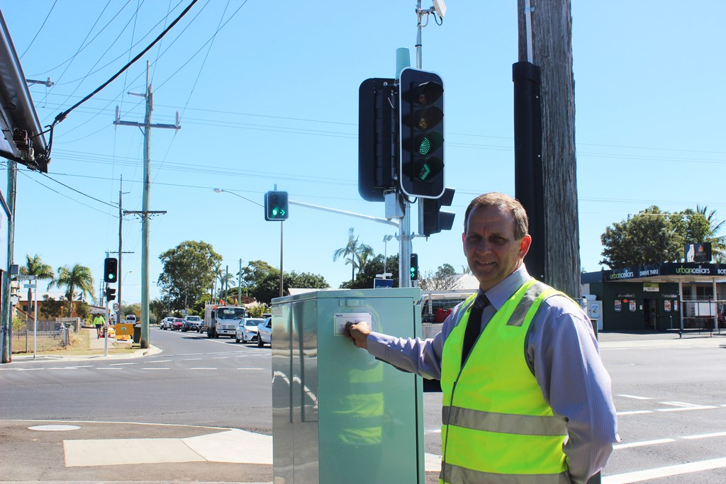 Rockhampton Regional Council Infrastructure committee chair Councillor Tony Williams at the High/Dean St intersection which has just been upgraded.