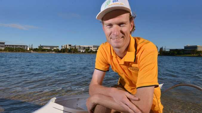 Trevor Hutson will represent Australia as part of the country's Adaptive Paddling team at the World titles in Brazil next week. Photo: John McCutcheon / Sunshine Coast Daily