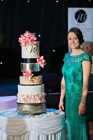 Owner of Studio Cakes Sarah-Jane Webb from Redbank has won the 2014 Queensland Cake Designer of the Year award at the annual Queensland Weddings and Events of Australia (WEOA) Awards for Excellence in July. Photo: Contributed
