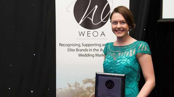 TAKING THE CAKE: Sarah-Jane Webb has won the 2014 Queensland Cake Designer of the Year award.