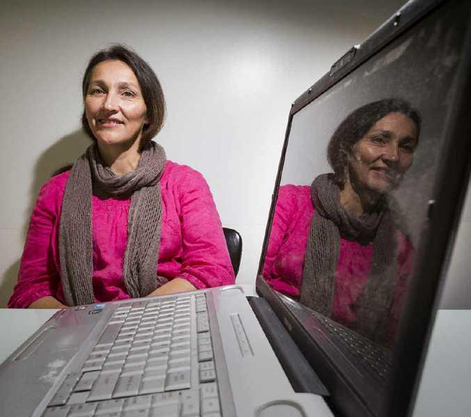 BUYING: Liza Bloomer of Yoohoo Creative and Digital backs the use of internet for business. Photo Adam Hourigan
