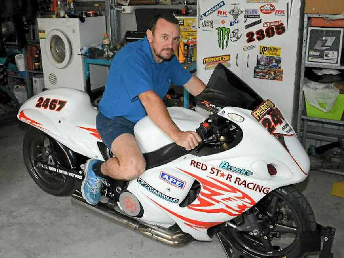 FAST MOVER: Reegan Ward reckons there's more fun to be had on two wheels than on four. The Gladstone man loves his 2008 Suzuki Hayabusa