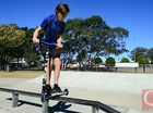 Jayden Stanley at Bundamba Skate Park. Photo: David Nielsen / The Queensland Times