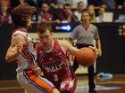 POWER RUN: The Bulls' Bryce Arnott steamrolls the Clippers's Josh Walters at WIN Stadium. Photo: Mike Knott / NewsMail