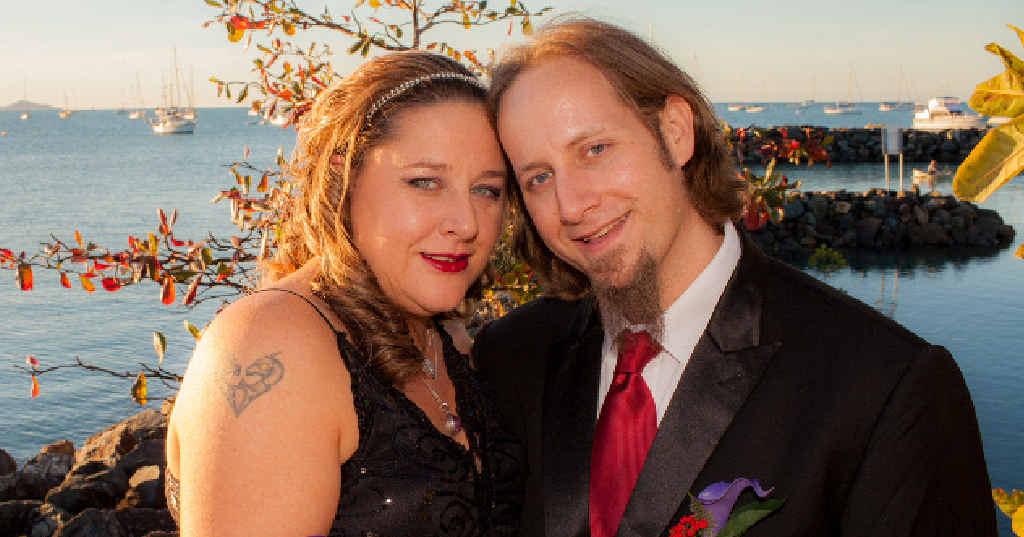 HONEYMOON: Noella and Andrew Dobbins met the man Andrew helped while honeymooning in the US.