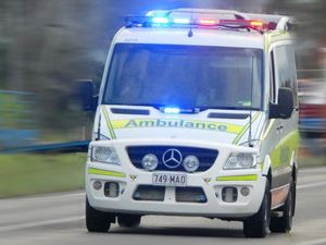 Motorbike and car crash on Emu Park Rd