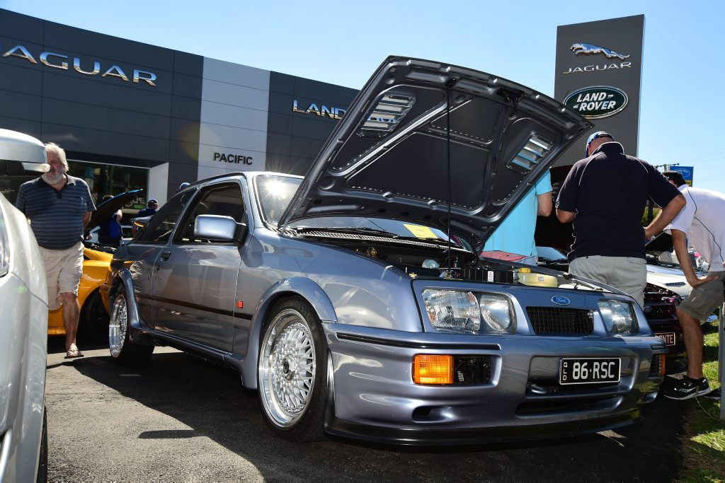 A 1986 Sierra RS Cosworth at the Pacific Ford & FPV Total Performance Show, Maroochydore. Photo: Iain Curry / Sunshine Coast Daily
