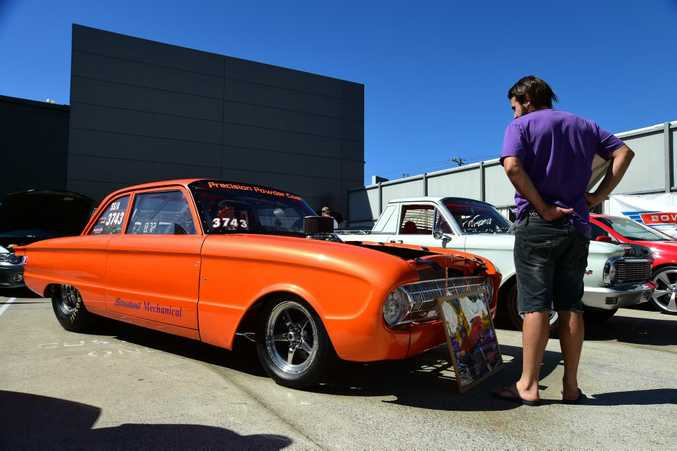 Modified drag Ford at the Pacific Ford & FPV Total Performance Show, Maroochydore. Photo: Iain Curry / Sunshine Coast Daily