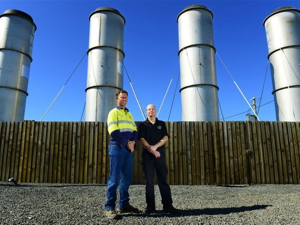 Remondis operational superintendent Andrew Sultmann (left) and LMS operations manager Lyle Mander.