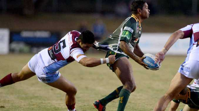 ON THE BALL: Ipswich Jets back Brendon Marshall scored two tries in his team's latest match against Papua New Guinea.