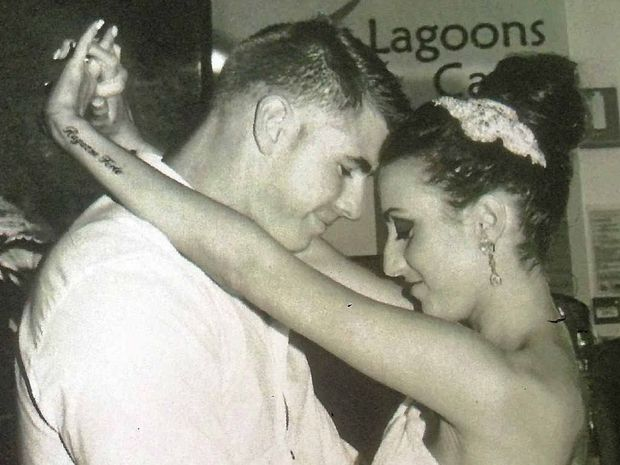 HAPPIER TIMES: A wedding photo of Naomi Barbary-Fisher and husband Ashley Fisher. She died last year at the age of 25, just two years after being diagnosed with ovarian cancer.