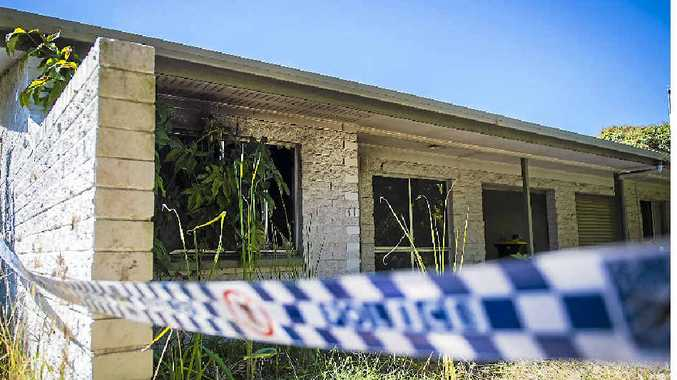 SUSPICIOUS: Fire damage to a Yarroon Street property in Gladstone.