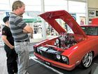 A REAL BEAUTY: Show attendees check out a heavily modified Falcon at the Pacific Ford and FPV Total Performance Car Show, Maroochydore.