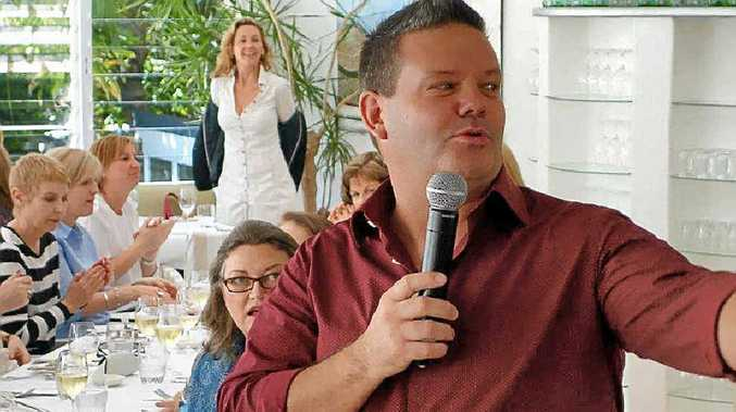 ENTERTAINING: Gary Mehigan drew a packed house.