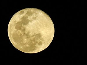 Super moon outshines meteor shower