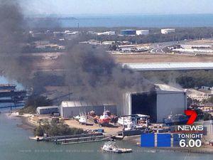HMAS Bundaberg destroyed by fire