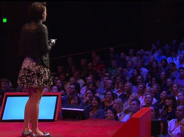 Megan Washington speaks at TEDxSydney in April 2014